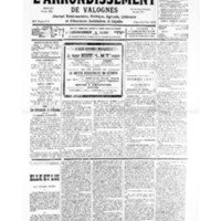Le Journal de l'arrondissement de Valognes, numéro du 16 février 1935