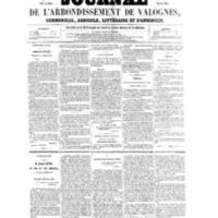 Le Journal de l'arrondissement de Valognes, numéro du 14 mai 1858