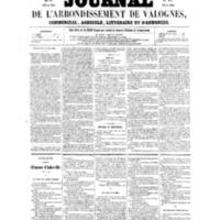 Le Journal de l'arrondissement de Valognes, numéro du 15 octobre 1858