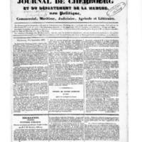 Le Journal de Cherbourg et du département de la Manche, numéro du 01 septembre 1833