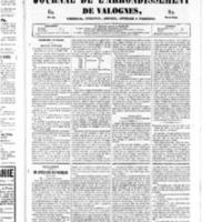 Le Journal de l'arrondissement de Valognes, numéro du 18 janvier 1850