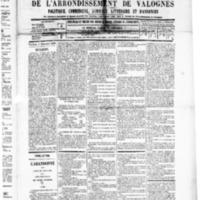 Le Journal de l'arrondissement de Valognes, numéro du 06 décembre 1889
