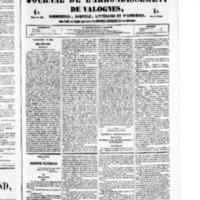 Le Journal de l'arrondissement de Valognes, numéro du 28 mai 1852