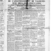 Le Journal de l'arrondissement de Valognes, numéro du 19 juillet 1889