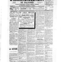 Le Journal de l'arrondissement de Valognes, numéro du 21 juillet 1934