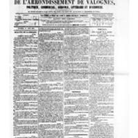 Le Journal de l'arrondissement de Valognes, numéro du 01 avril 1881