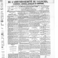 Le Journal de l'arrondissement de Valognes, numéro du 29 mars 1867