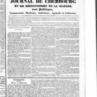 Le Journal de Cherbourg et du département de la Manche, numéro du 08 septembre 1833