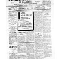 Le Journal de l'arrondissement de Valognes, numéro du 14 décembre 1935