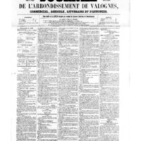 Le Journal de l'arrondissement de Valognes, numéro du 01 avril 1859