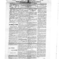 Le Journal de l'arrondissement de Valognes, numéro du 22 septembre 1928