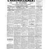 Le Journal de l'arrondissement de Valognes, numéro du 11 novembre 1939