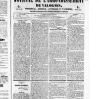 Le Journal de l'arrondissement de Valognes, numéro du 14 mai 1852