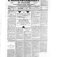 Le Journal de l'arrondissement de Valognes, numéro du 24 mars 1934