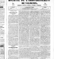 Le Journal de l'arrondissement de Valognes, numéro du 08 février 1850