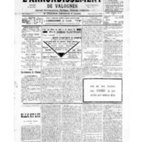 Le Journal de l'arrondissement de Valognes, numéro du 22 décembre 1934