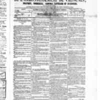 Le Journal de l'arrondissement de Valognes, numéro du 23 mai 1879