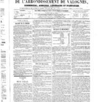 Le Journal de l'arrondissement de Valognes, numéro du 24 mars 1865