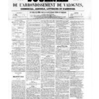 Le Journal de l'arrondissement de Valognes, numéro du 27 mai 1859