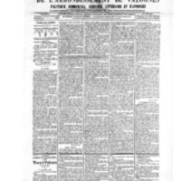 Le Journal de l'arrondissement de Valognes, numéro du 23 février 1906