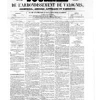 Le Journal de l'arrondissement de Valognes, numéro du 10 juin 1859