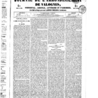 Le Journal de l'arrondissement de Valognes, numéro du 08 octobre 1852