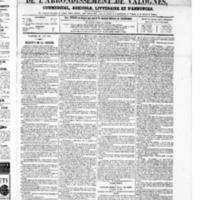 Le Journal de l'arrondissement de Valognes, numéro du 28 juin 1867