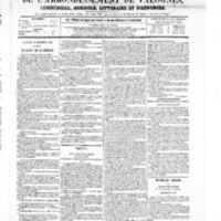 Le Journal de l'arrondissement de Valognes, numéro du 11 septembre 1868