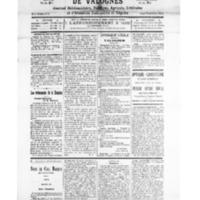 Le Journal de l'arrondissement de Valognes, numéro du 09 janvier 1926