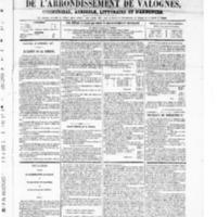 Le Journal de l'arrondissement de Valognes, numéro du 27 septembre 1867