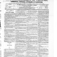 Le Journal de l'arrondissement de Valognes, numéro du 04 septembre 1868