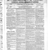 Le Journal de l'arrondissement de Valognes, numéro du 01 septembre 1865