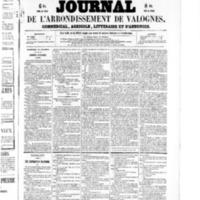 Le Journal de l'arrondissement de Valognes, numéro du 21 novembre 1856