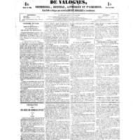 Le Journal de l'arrondissement de Valognes, numéro du 21 juillet 1854