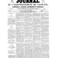 Le Journal de l'arrondissement de Valognes, numéro du 28 mai 1858