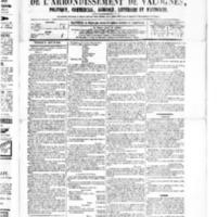 Le Journal de l'arrondissement de Valognes, numéro du 23 janvier 1880