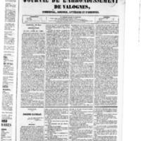 Le Journal de l'arrondissement de Valognes, numéro du 26 mars 1852