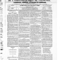 Le Journal de l'arrondissement de Valognes, numéro du 21 juin 1867