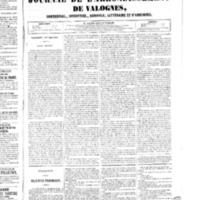 Le Journal de l'arrondissement de Valognes, numéro du 27 septembre 1850