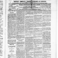 Le Journal de l'arrondissement de Valognes, numéro du 03 mai 1889