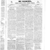 Le Journal de l'arrondissement de Valognes, numéro du 07 juin 1850