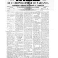 Le Journal de l'arrondissement de Valognes, numéro du 22 juillet 1859