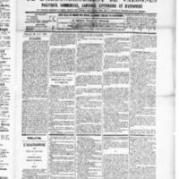 Le Journal de l'arrondissement de Valognes, numéro du 26 avril 1889