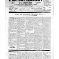 Le Journal de l'arrondissement de Valognes, numéro du 01 décembre 1934