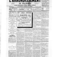 Le Journal de l'arrondissement de Valognes, numéro du 28 avril 1934