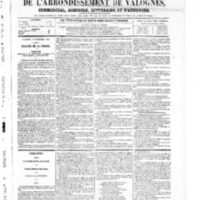 Le Journal de l'arrondissement de Valognes, numéro du 22 novembre 1867
