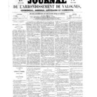 Le Journal de l'arrondissement de Valognes, numéro du 17 septembre 1858