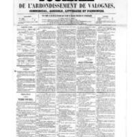 Le Journal de l'arrondissement de Valognes, numéro du 05 août 1859