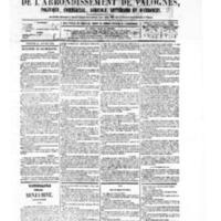 Le Journal de l'arrondissement de Valognes, numéro du 24 janvier 1879