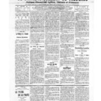 Le Journal de l'arrondissement de Valognes, numéro du 08 janvier 1909